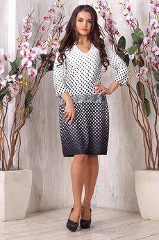 Платье в черно-белый горошек Liora со скидкой