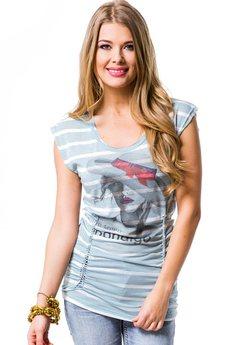 Удлиненная футболка с декоративным швом на спине Mondigo
