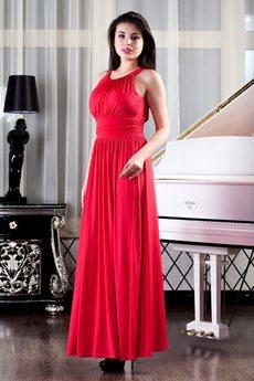Красное длинное вечернее платье Mondigo